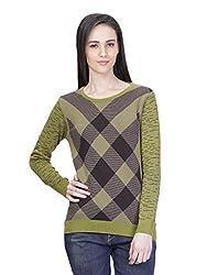 Kalt Women's Cotton Sweater (W133 XL _X-Large_Multicolour)