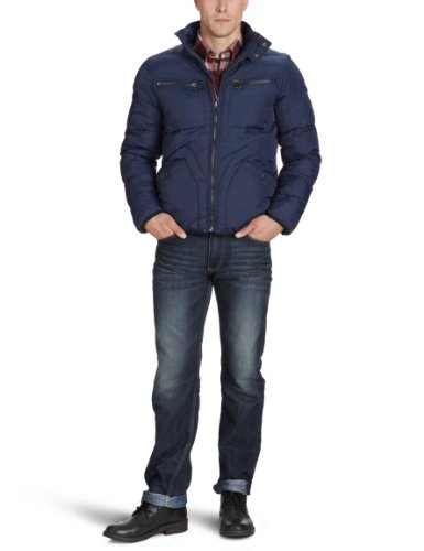 Lee Men's Zip Puffa Jkt - L833Wj35 Jacket Blue (Navy) 44/46