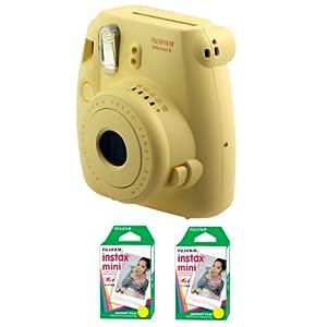 Fujifilm FU64-MINI8YK40 INSTAX MINI 8 Camera and Film Kit with 40 Exposures (Yellow)