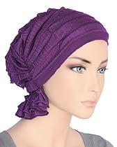 The Abbey Cap in Ruffle Purple
