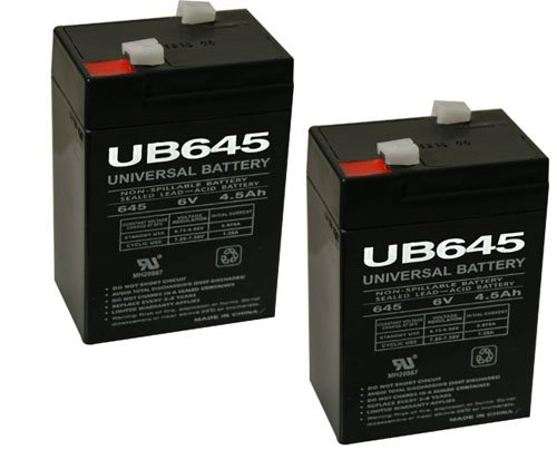 6V 4.5Ah Replacement Battery For Rhino Mule Pe4-6 - 2 Pack