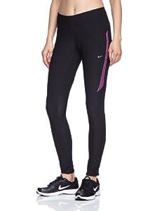 NIKE Damen Lauftights Tech 2, Black/Club Pink/Matte Silver, XL, 546656