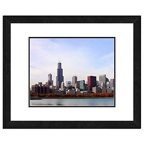 Chicago Skyline Photo (Chicago Skyline Framed Picture compare prices)