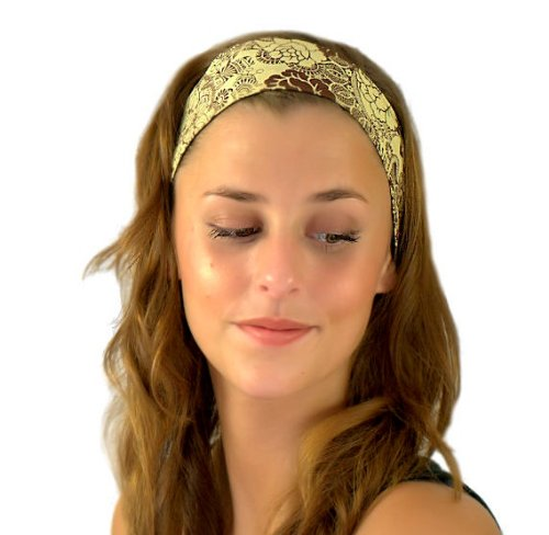 Bargain Headbands, Spanish Lace, Spring in Brown, Hot Chocolate and Cream, Beautiful Floral Headband