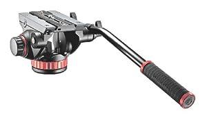 Manfrotto MVH502AH Pro Fluid Video Neiger mit flacher Basis und 504PL