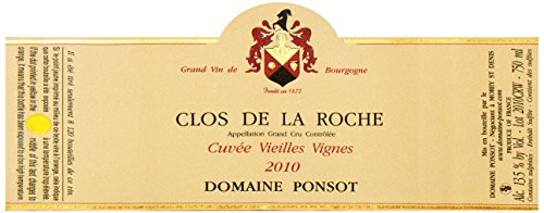 2010 Ponsot - Clos De La Roche Grand Cru Vieilles Vignes Burgundy 750 Ml