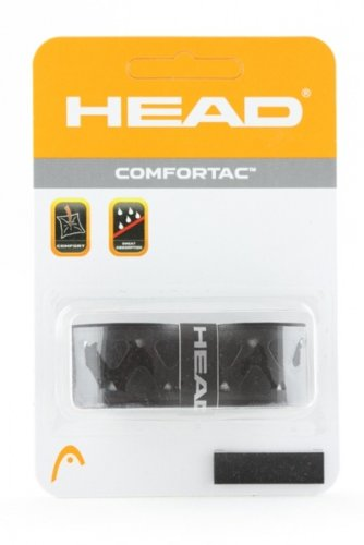 Head Comfortac Replacement Grip Tennis Racket - Black/Silver