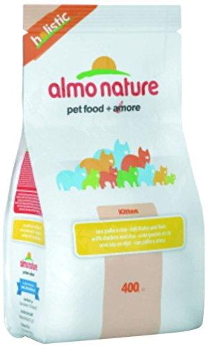 Croquettes Almo Nature Holistic pour chaton au poulet et riz Sachet de 400 g