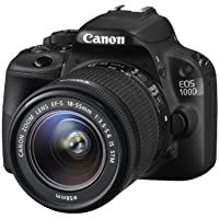 Canon EOS 100D SLR-Digitalkamera (18 Megapixel, 7,6 cm (3 Zoll) Touchscreen, Full HD, Live-View) Kit inkl. EF-S 18-55mm 1:3,5-5,6 IS STM