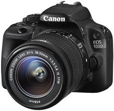 "Canon EOS 100D - Cámara réflex digital de 18 Mp (pantalla 3"", estabilizador), color negro - kit con objetivo 18-55mm f/5.6 (importado)"