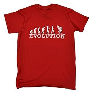 EVOLUTION KOPPITE (L - RED) PREMIUM LOOSE FIT BAGGY T-SHIRT - slogan funny clothing joke novelty vintage retro t shirt top men's ladies women's girl boy men women tshirt tees tee t-shirts shirts fashion urban cool geek anfield liverpool road the kop fc pr
