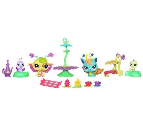 HASBRO Littlest Pet Shop - 2 PetShop et amis féeriques + accessoires - Goûter fabuleux