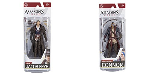 Super Hero Assassin's Creed Series 5 Union Jacob Frye VS Assassin's Creed Series 5 Revolutionary Connor Action Figure