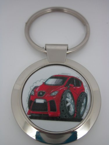 Koolart Seat ibiza red Car Keyring 1969 - Christmas