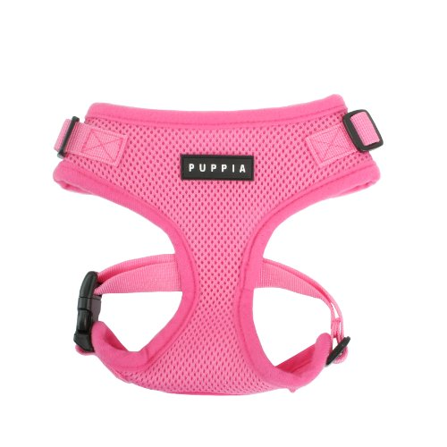 Authentic Puppia Ritefit Harness With Adjustable Neck, Pink, Large front-830339