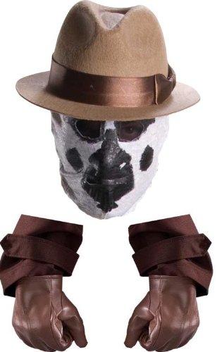 Watchmen Rorschach Costume Hat, Gloves & Mask Set (Rorschach Hat)
