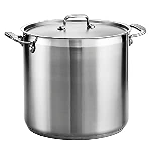 Tramontina 80120/002DS Tramontina Gourmet Stainless Steel Covered Stock Pot, 20-Quart