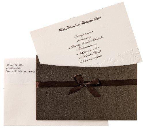 Wilton Embossed Flower Pocket Invitation Kit