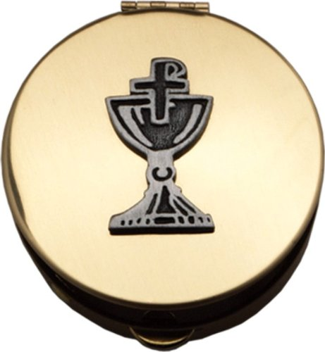 Pyx With Chalice and Chi-Rho Cross (PS122) - 2 1/8