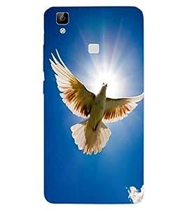 ColourCraft Beautiful Pigeon Design Back Case Cover for VIVO V3 MAX