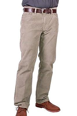 Calvin Klein Jeans Men's Corduroy Straight Fit Plain Front Pant Khaki