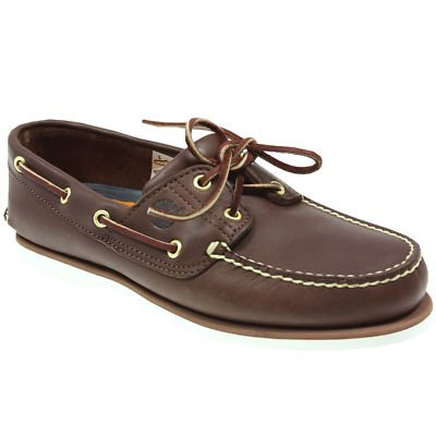 MENS TIMBERLAND CLASSIC LEATHER 2 EYE 74035 BOAT SHOES SIZE 6,7,8,9,10,11