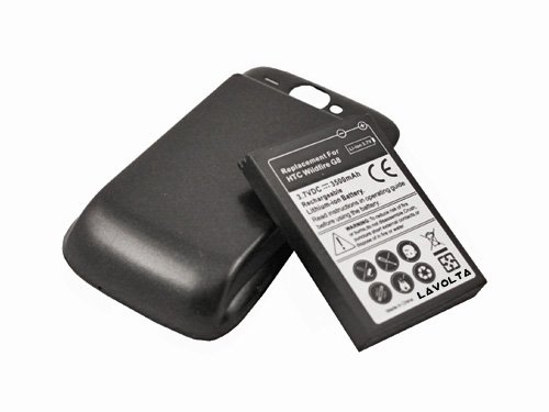 High Capacity Extended Battery for HTC Wildfire fits BA S420 - 3500mAh 3.7V Black Friday & Cyber Monday 2014