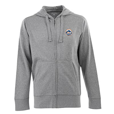 New York Mets Signature Full Zip Hooded Sweatshirt (Grey)