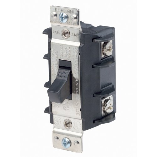 Leviton MS302-DS 30 Amp, 600 Volt, Double- Pole, Single Phase AC Motor Starter, Suitable as Motor Disconnect, Industrial Grade, Non-Grounding, Black (Single Phase Motor compare prices)