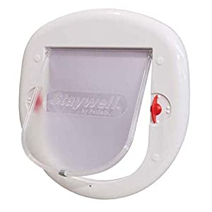 PetSafe PPA00-11326 Big 4-Way Cat Door Lock - White