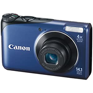 Canon PowerShot A2200 (Blue) with 4 GB SD Card ( inside the box )+Camera pouch