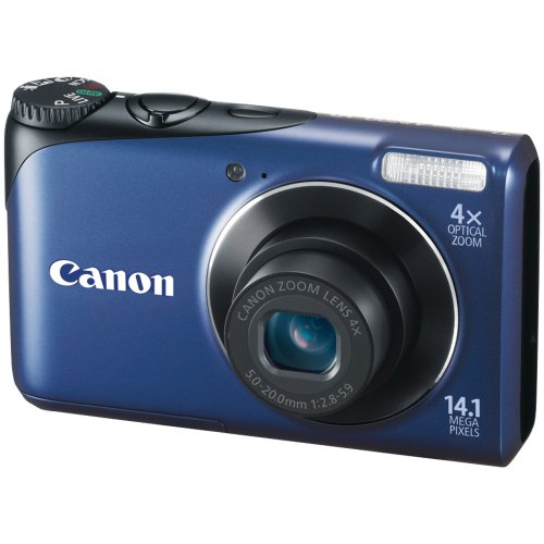 Canon Powershot A2200 14.1 MP Digital Camera with 4x Optical Zoom (Blue)