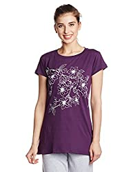 Lovable Women's Cotton Pyjama Top (CrewNeck_Purple_Medium)