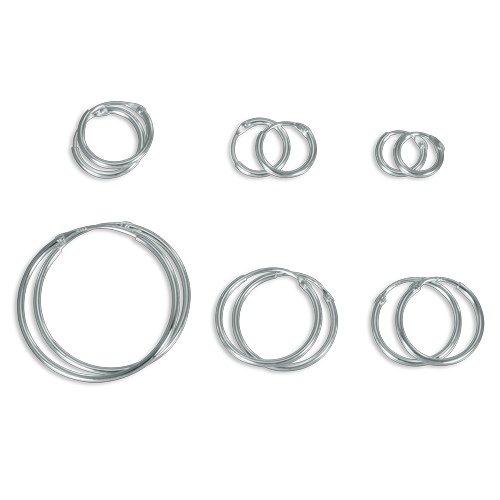 Sterling Silver Hoop Sleeper Earrings 8 - 25mm