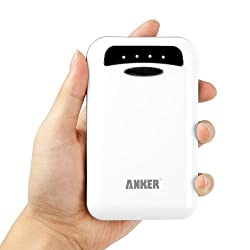 Anker Astro E4 13000mAh External Battery Charger Power Bank for Apple: iPad mini, iPhone 5 (Lightning Cable not Provided); iPhone 4S, iPad; Android Tablets: Google Nexus 7 Nexus 10; Android Smart Phones: Samsung Galaxy S4, S3, S2, Galaxy Note II;  HTC Sensation, One X V S, EVO 4G, Thunderbolt; Nokia Lumia 920 900 N9; Motorola Razr; Blackberry Z10; Sony Xperia Z [3 mobile phone connectors] - White
