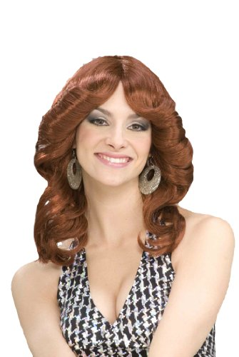 Forum Novelties Women's 70's Disco Doll Auburn Costume Wig