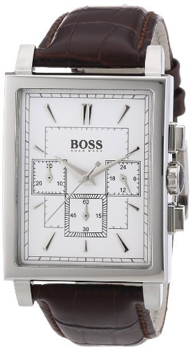 Hugo Boss Chronograph White Dial Leather Mens Watch 1512872