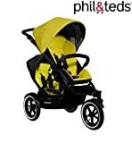 Phil & Teds NAVIGATOR & Double Kit Inline Double Baby Pushchair (Kiwi)