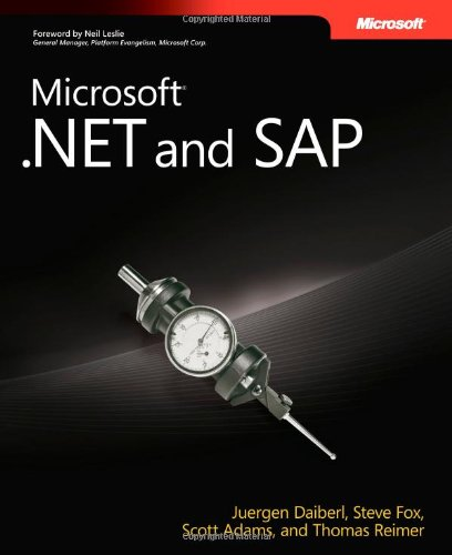 Microsoft® .Net And Sap (Developer Reference)