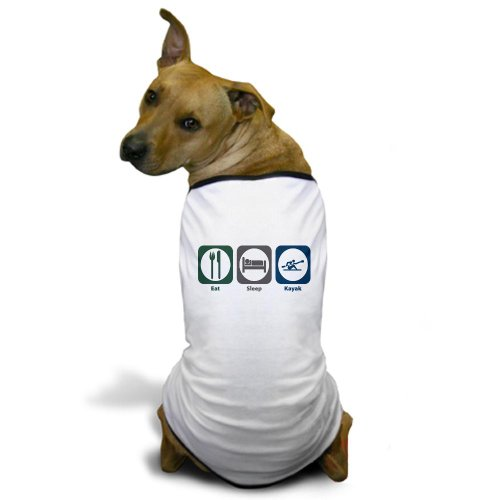 CafePress - Eat Sleep Kayak Dog T-Shirt - Dog T-Shirt, Pet Clothing, Funny Dog Costume