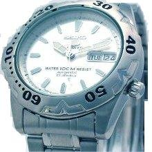 Seiko 5 SEIKO SNZ169 Sport Automatic Mechanical Self-Winding White Dial Date Day Stainless Steel Water Resistance Men's Watch