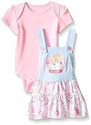 Disney Baby Girls\' Cinderella Jumper Set, Multi/Pink, 6-9 Months (Pack of 2)
