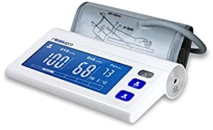 MeasuPro BPM-80A Digital Arm Blood Pressure Monitor with Heart Rate Detection, Hypertension Color Alert Display, Two User Modes, IHB Indicator, and Memory Recall