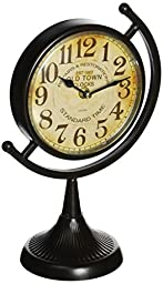 Deco 79 92201 Metal Desk Clock, 4 Assorted, 12 by 8\