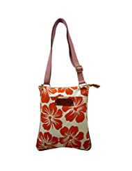Arpera Floral Printed Canvas Sling Bag C11419-3