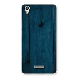 Enticing Blue Royal Wood Back Case Cover for Lava-Pixel-V1