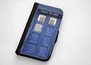 Doctor Who Inspired Tardis iPhone 5 Leather Wallet Case