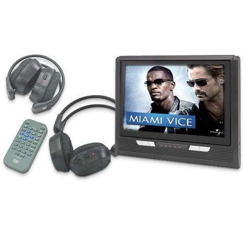10 Big Screen Mobile Theater W/ 2 Wireless Headphones