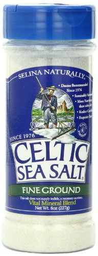 Celtic Sea Salt Fine Ground Shaker Jar, 8 Ounce