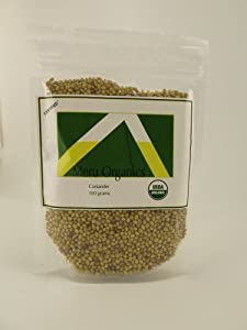 100% Certified Organic Coriander Seeds, Pack of 2 3.53 Ounce Bags